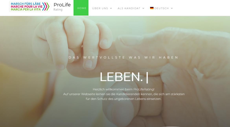 ProLifeRating: Participer aux élections pour la protection de la vie
